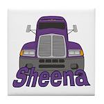 Trucker Sheena Tile Coaster