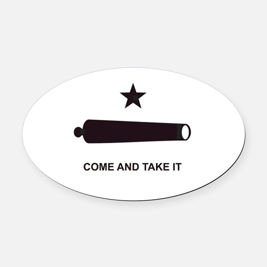 COMEANDTAKEITBEACHBAGTEMPLATE.JPG Oval Car Magnet