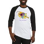 Funny cartoon fish Baseball Jersey