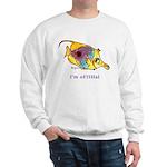 Funny cartoon fish Sweatshirt