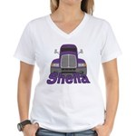 Trucker Sheila Women's V-Neck T-Shirt