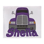 Trucker Sheila Throw Blanket