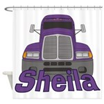 Trucker Sheila Shower Curtain
