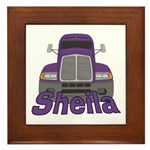 Trucker Sheila Framed Tile
