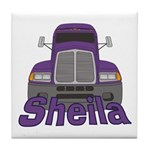 Trucker Sheila Tile Coaster