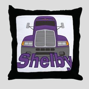 Trucker Shelby Throw Pillow