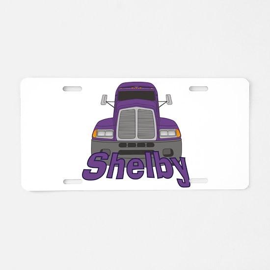 Trucker Shelby Aluminum License Plate