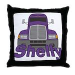 Trucker Shelly Throw Pillow