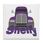 Trucker Shelly Tile Coaster