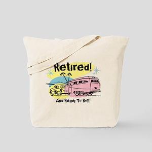 Retro Trailer Retired Tote Bag
