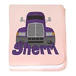 Trucker Sherri baby blanket