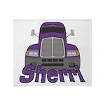 Trucker Sherri Throw Blanket