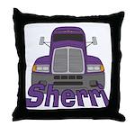 Trucker Sherri Throw Pillow
