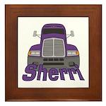 Trucker Sherri Framed Tile