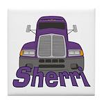 Trucker Sherri Tile Coaster