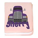 Trucker Sherry baby blanket
