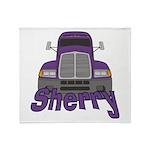 Trucker Sherry Throw Blanket