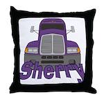 Trucker Sherry Throw Pillow