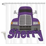 Trucker Sherry Shower Curtain