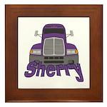 Trucker Sherry Framed Tile