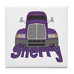 Trucker Sherry Tile Coaster