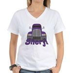 Trucker Sheryl Women's V-Neck T-Shirt