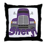 Trucker Sheryl Throw Pillow