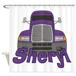 Trucker Sheryl Shower Curtain