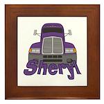 Trucker Sheryl Framed Tile