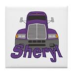 Trucker Sheryl Tile Coaster