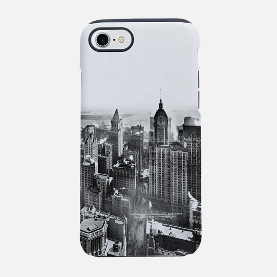 Vintage Lower Manhattan Skyscr iPhone 7 Tough Case