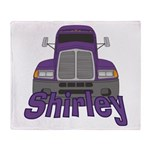 Trucker Shirley Throw Blanket