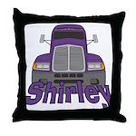 Trucker Shirley Throw Pillow