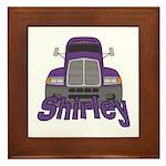 Trucker Shirley Framed Tile