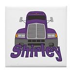 Trucker Shirley Tile Coaster