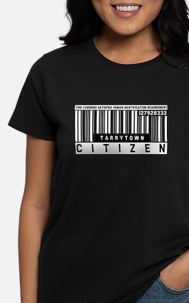 Tarrytown Citizen Barcode, Women's Dark T-Shirt