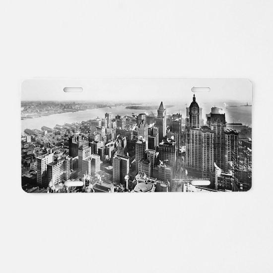 Vintage Lower Manhattan Sky Aluminum License Plate