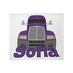 Trucker Sofia Throw Blanket