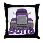 Trucker Sofia Throw Pillow