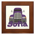 Trucker Sofia Framed Tile