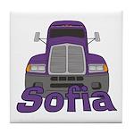 Trucker Sofia Tile Coaster