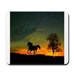 AFTM Old Black Stallion At Sunrise Mousepad