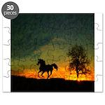 AFTM Old Black Stallion At Sunrise Puzzle