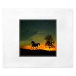 AFTM Old Black Stallion At Sunrise King Duvet