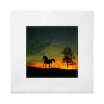 AFTM Old Black Stallion At Sunrise Queen Duvet