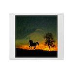AFTM Old Black Stallion At Sunrise Throw Blanket