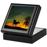 AFTM Old Black Stallion At Sunrise Keepsake Box