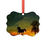 AFTM Old Black Stallion At Sunrise Picture Ornamen