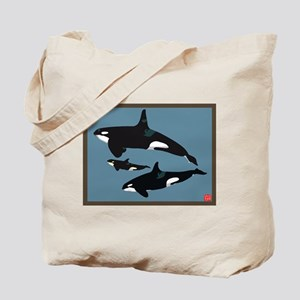 Orca whale family Tote Bag
