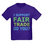I Support Fair Trade Kids Dark T-Shirt